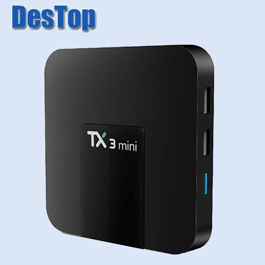 10pcs original Tanix TX3 Mini TV Box S905W 2 4GHz WiFi Android 7 1 1GB RAM