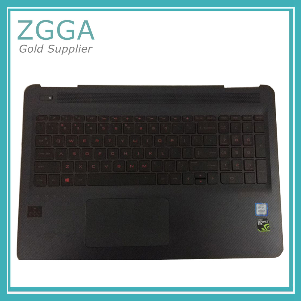 90%New For HP OMEN 15-AX 15-AX020CA 15-AX100 15-AX200 15-AX102TX 15-AX016TX Laptop Palmrest US Keyboard With Backlit 859735-001 shd s010 silicone anal butt plug tail vibrator anal sex toys prostate massager for gay man with super power 7 mode