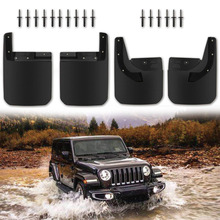 Chuang Qian Front and Rear Splash Guards Fender Flares Mud Flaps Replace 82215333 82215332AB for 2018 2019 Jeep Wrangler JL black front rear fender flares splash guard dirtboard wheel eyebrow for 313 jeep wrangler shell rc crawler body shell parts