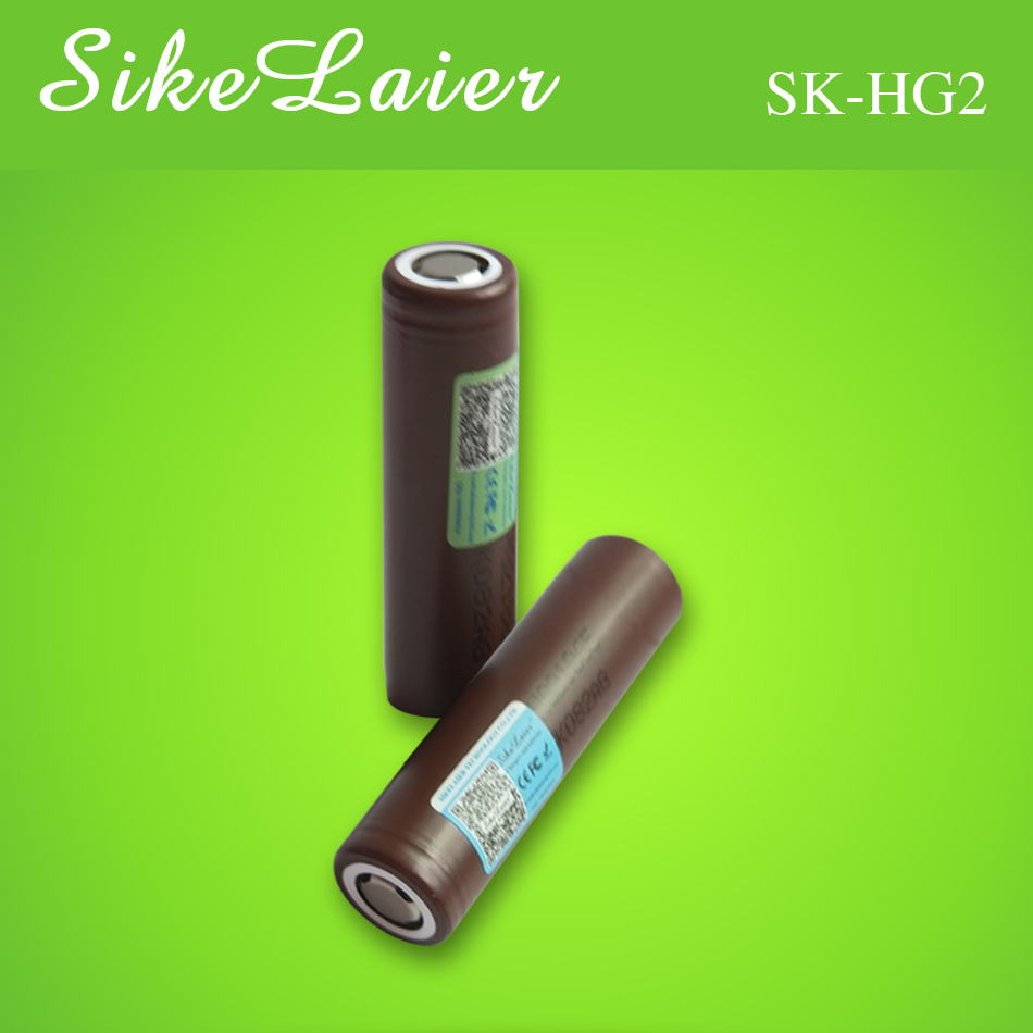 2PCS SikeLaire Original for <font><b>LG</b></font> <font><b>HG2</b></font> <font><b>18650</b></font> <font><b>3000mAh</b></font> <font><b>battery</b></font> 18650HG2 3.6V discharge <font><b>20A</b></font>, dedicated to electronic power bat image