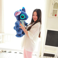 small size plush Stitch toy creative standing dark blue stitch doll gift about 60cm 0363