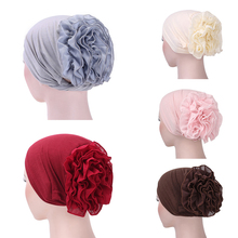 Muslim Hijab Turban Arabic Head Scarf Flower Women Chemo Cap Cotton Bandana
