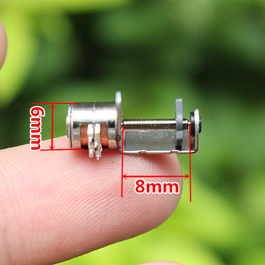 2 Pcs 2 Phase 4 Wire Micro Stepper Motor DC Motor with Screw Rod dia 10mm for focusing camera