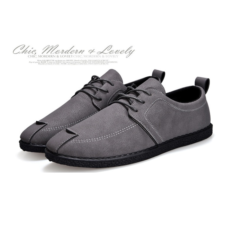 New Fashion Men Shoes Comfortable Handmade Leather Shoes Casual Man Brand Flats Design Man Driving Work Walking Shoes Soft Shoes