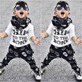 2 pcs Criança Crianças Bebê Menino T-shirt Tops + Calças de Verão do Quadril até o osso Casual Outfits Vestuário Set Novo