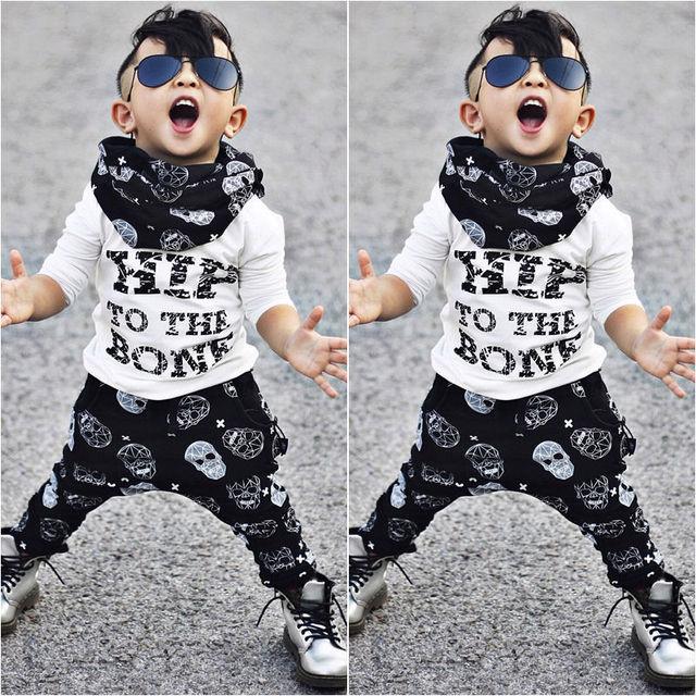 2342aa1c8bfc 2pcs Toddler Kids Baby Boy T shirt Tops + Pants Summer Hip to the ...