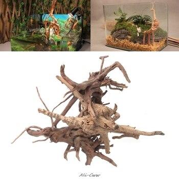 Aquarium Decoration Wood Natural Trunk Driftwood Tree Aquarium Fish Tank Plant Stump Ornament Landscap Decor