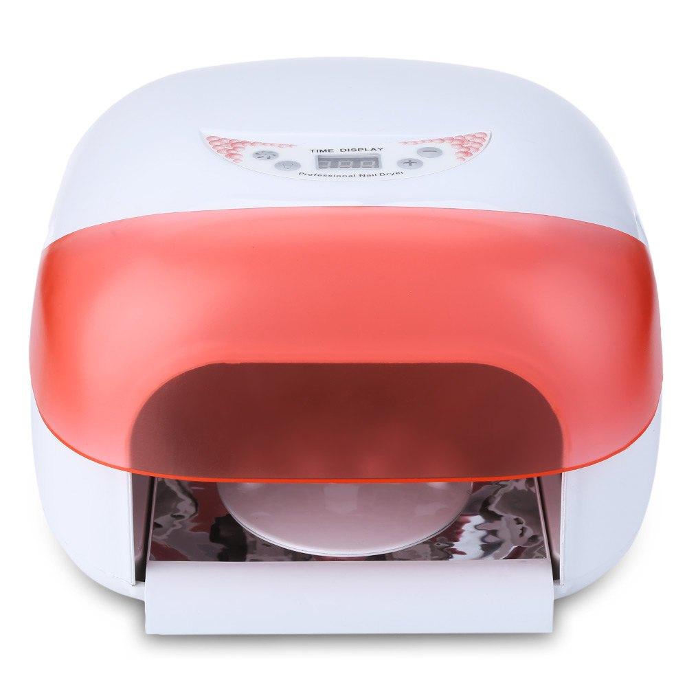 Pro 36W UV Phototherapy Nail Gel Lamp Nail Polish Dryer Heater Built-in Fan Salon Gel Curing Nail Manicure Machine EU US Plug new pro 48w nail lamp manicure dryer fit uv led builder gel all nail polish nail art tools sun5 professional machine
