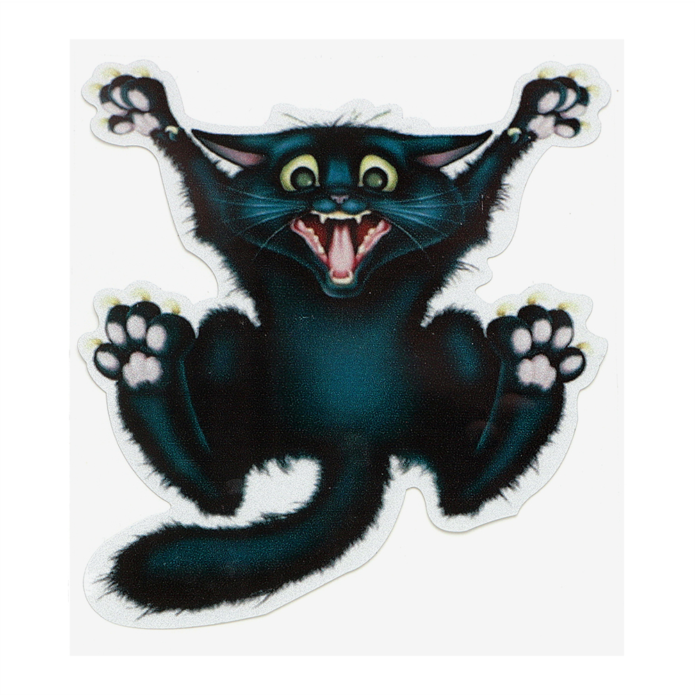 17cm*13.5cm 3D Crazy Cat Car Stickers and Decals Auto Motorcycle Sticker Car- styling Car Window Decor Body Decoration цены онлайн