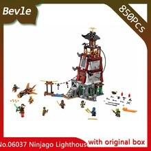 Bevle Store LEPIN 06037 618Pcs with original box Ninja Series Ninja siege lighthouse Building Blocks For Children Toys 70594