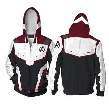 The Avengers 3D Zip Hoodies Sweatshirts Zipper Marvel Hoody Men Hoodie Tracksuit Pullover Streetwear Jacket Avengers Endgame EU