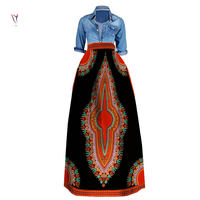 Dashiki African Skirt Print Cotton Batik African Clothes for Women Bazin Riche Ankara Skirt African Clothing Wax Ladies Clothes
