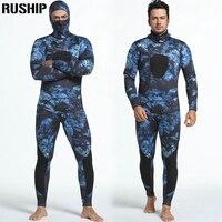Profesyonel 3mm neopren Dalış erkekler pesca dalış spearfishing şnorkel wetsuit mayo Bölünmüş combinaison şapka surf Suits