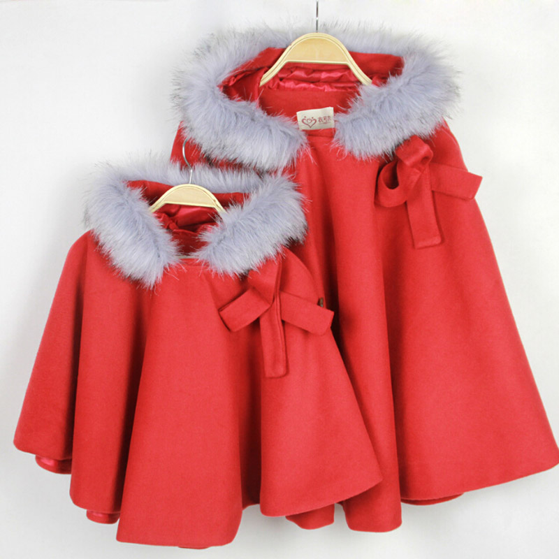 Mother Daughter Woolen Coat Matching Mother Daughter Christmas Outfits ... - Autumn&Winter Mother Daughter Christmas Outfits Fashion Woolen Coat