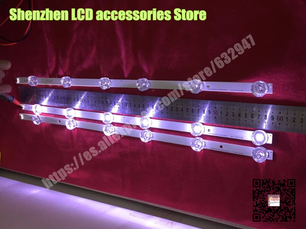 3PCS(2*A,1*B) for LG 32 inches LG INNOTEK DRT 3.0 32-A/B 32LB552B-CA 6916L 1974A 1975A 2223A 2224A 590mm 6 LEDs
