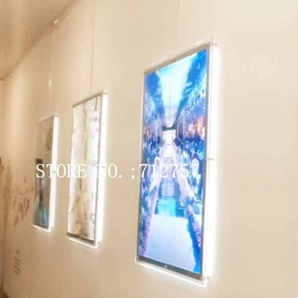 acrylic backlit poster frames a1 poster size crystal frame led light boxes