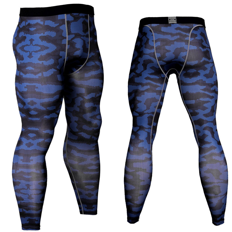 2018 Gyms Muscle Bodybuilding Camouflage Mens Long Leggings Elastic Compression Skinny Pants Quick Dry Man Legging Dropshipping