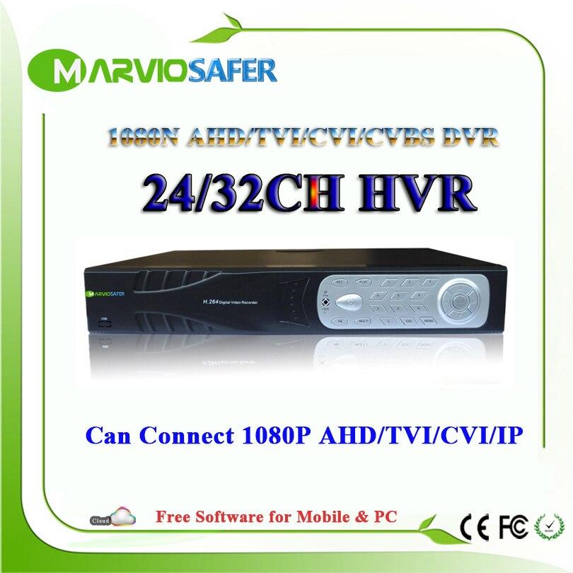 32ch 24ch canal 24 32 canal CCTV CVR CVI TVI AHD DVR XVR AVR TVR HVR AHD-NH 1080N Full HD gravador de vídeo 1080 p Saída HDMI
