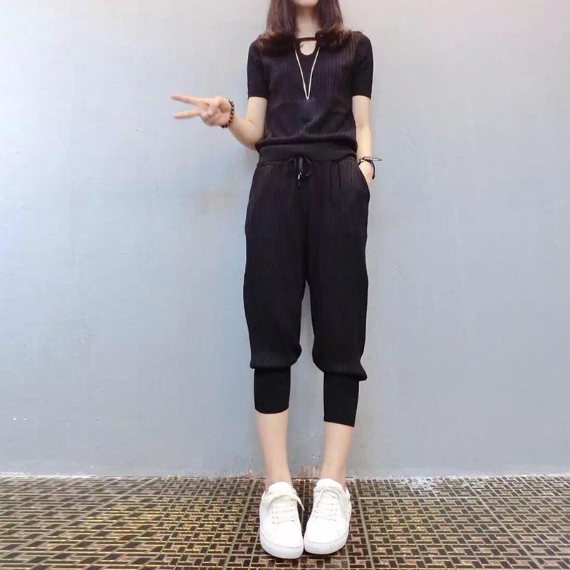 Casual 2 Piece Set Women Long Sleeve Crop Top Tracksuits Ensemble Femme 2 Pieces Pantalon Conjunto Feminino Matching Sets Suit 4