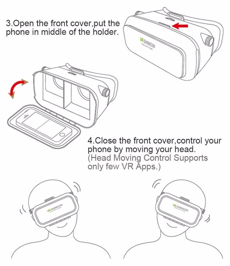 18 Original Shinecon VR Pro Virtual Reality 3D Glasses Headset VRBOX Head Mount Google Cardboard Helmet For Smartphone 4-6inch 33