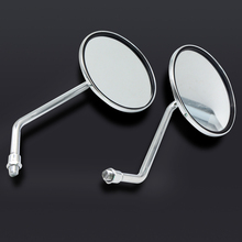 Univeral 8-10mm CNC Aluminum chorme Motorcycle Back View Mirror Electric Bicycle Rearview Mirrors Side for yamaha honda