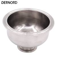 DERNORD 1.5'' to 4'' Tri Clamp Bowl Reducer, Sanitary Fitting Stainless Steel 304, Hemispherical Tri clamp Reducer