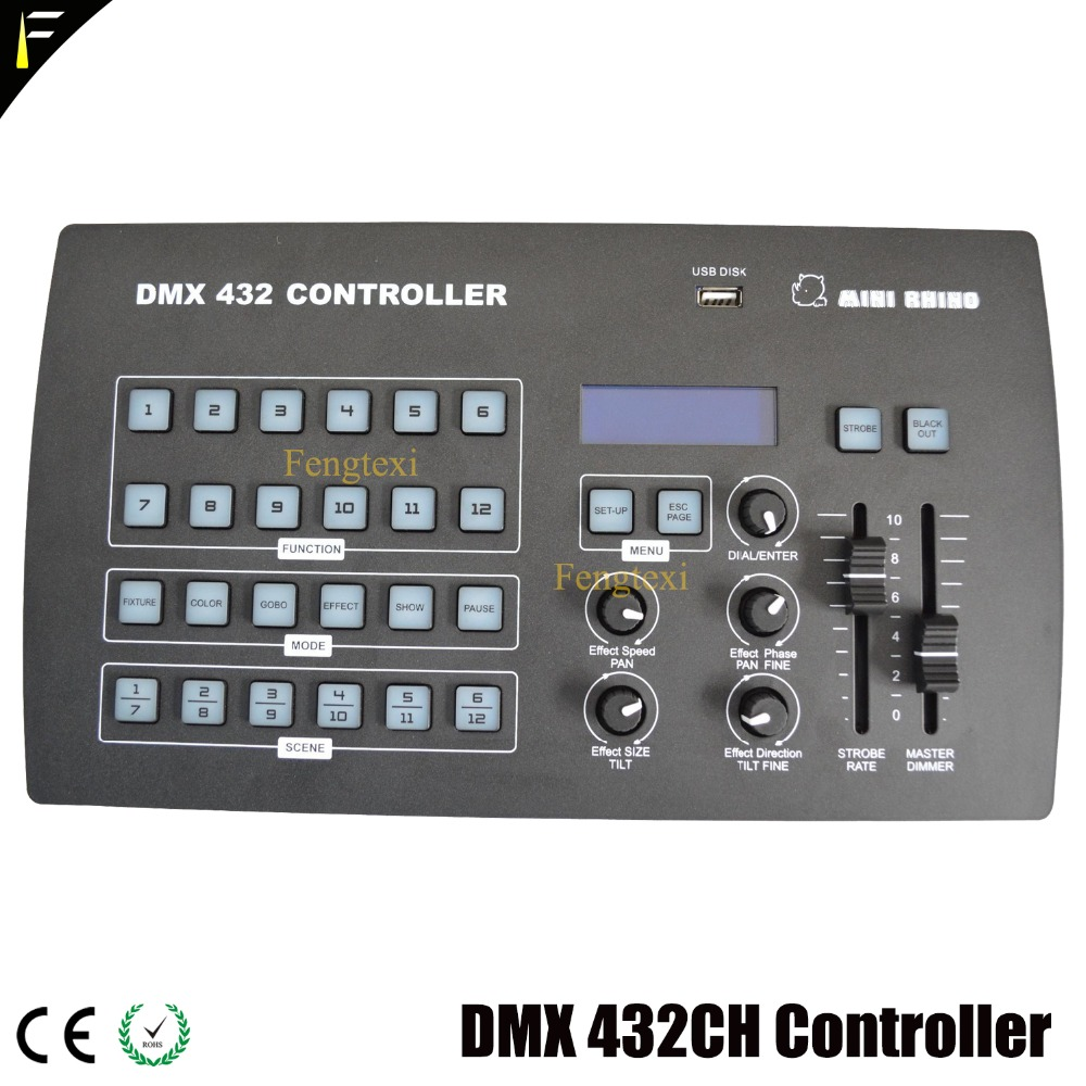 Mini Rhino Wireless Console 432 Channel DMX Controller Color Gobo Show Pause Of Lighting Command Controller