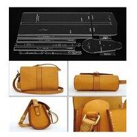 Акриловый шаблон узор для Прекрасный сумка мягкая кожа ремесло узор DIY простой стиль трафарет Вышивание узор