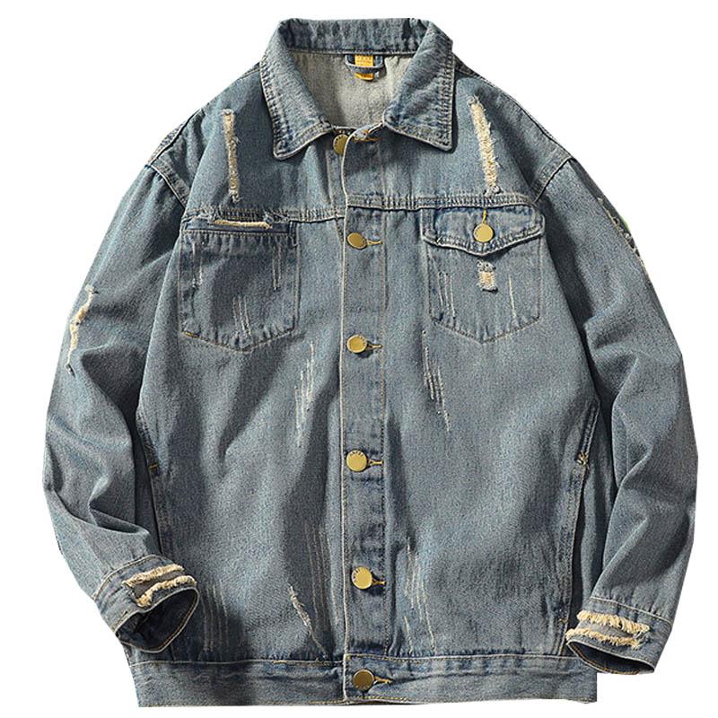Ropa Streetwear Chaquetas Hop Hombre Abrigo Hombres Hyun Eslite Denim 2018  Casual Chaqueta Otoño Hip Blue ... 846b9dc939b
