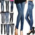 S-XL New Women's Pants Fashion Pants For Women Plus Size Jeans Hole Pleated Prints Pants Casual Leggings 14 Colors