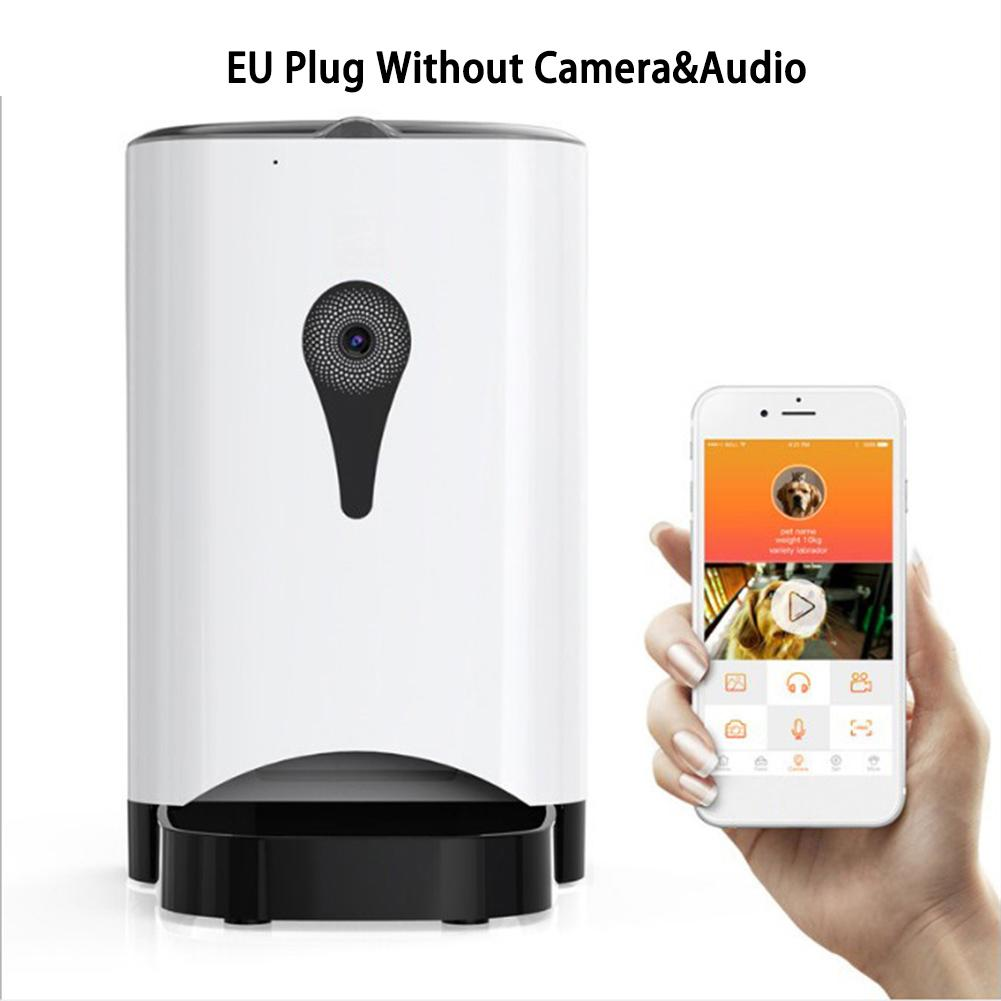 EU 4.5L Pet Feeder Wifi Remote Control Fashion Smart Automatic Pet Feeder Dogs Cat Food Rechargable With Video Monitor zwbra shower curtain