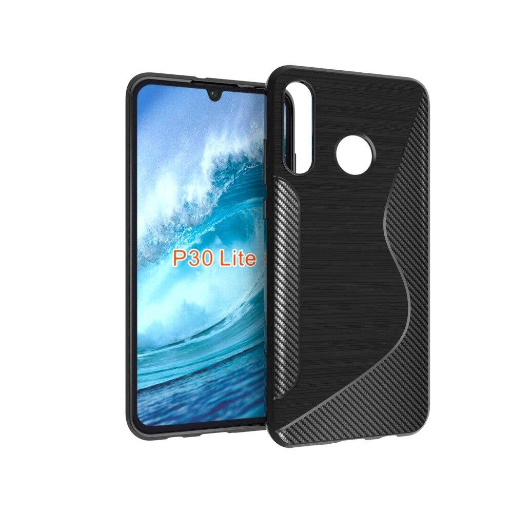 10pcslot S Line Brushed Silicone Soft TPU Gel Back Cover Skin Bag For Huawewi P30 Lite Phone Funda Cases