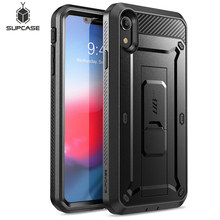 SUPCASE For iPhone XR Case 6.1 inch UB Pro Full Body Rugged Holster Phone Case Cover with Built in Screen Protector & Kickstand