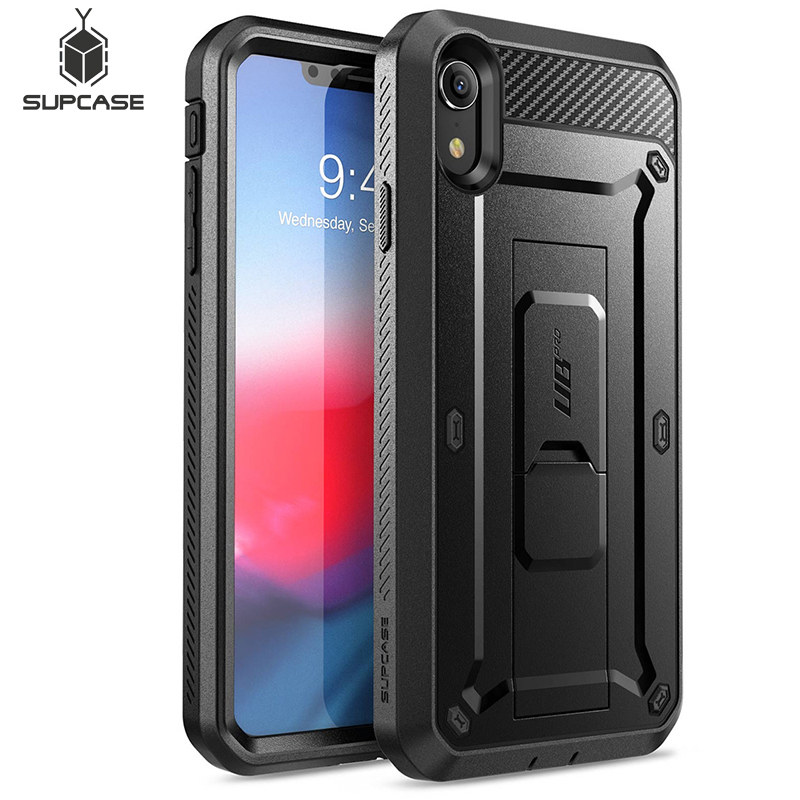 SUPCASE For iPhone XR Case 6.1 inch UB Pro Full-Body Rugged Holster Phone Case Cover with Built-in Screen Protector & Kickstand(China)