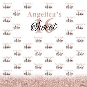 Image 2 - Sensfun белый розовый Золотой блестящий милый 16 вечерние чный фон для фотостудии на заказ для девочек день рождения вечевечерние НКА фотография фоны
