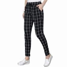Vliegende ROC 2018 vrouwen casual broek elastische taille slim leggings femme broek nieuwe aankomst plus size lady enkellange broek