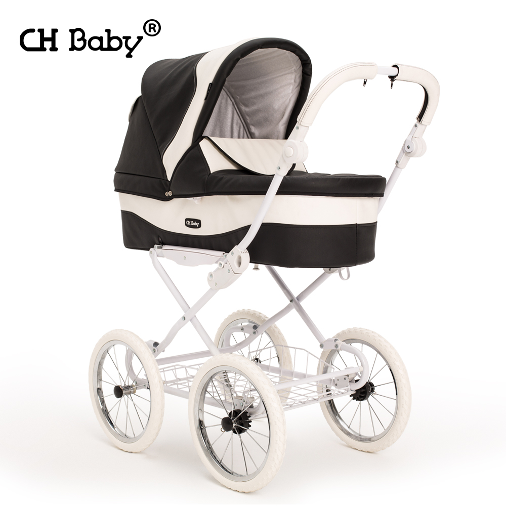 High Quality Luxury Baby Stroller Chbaby Leather Baby Car