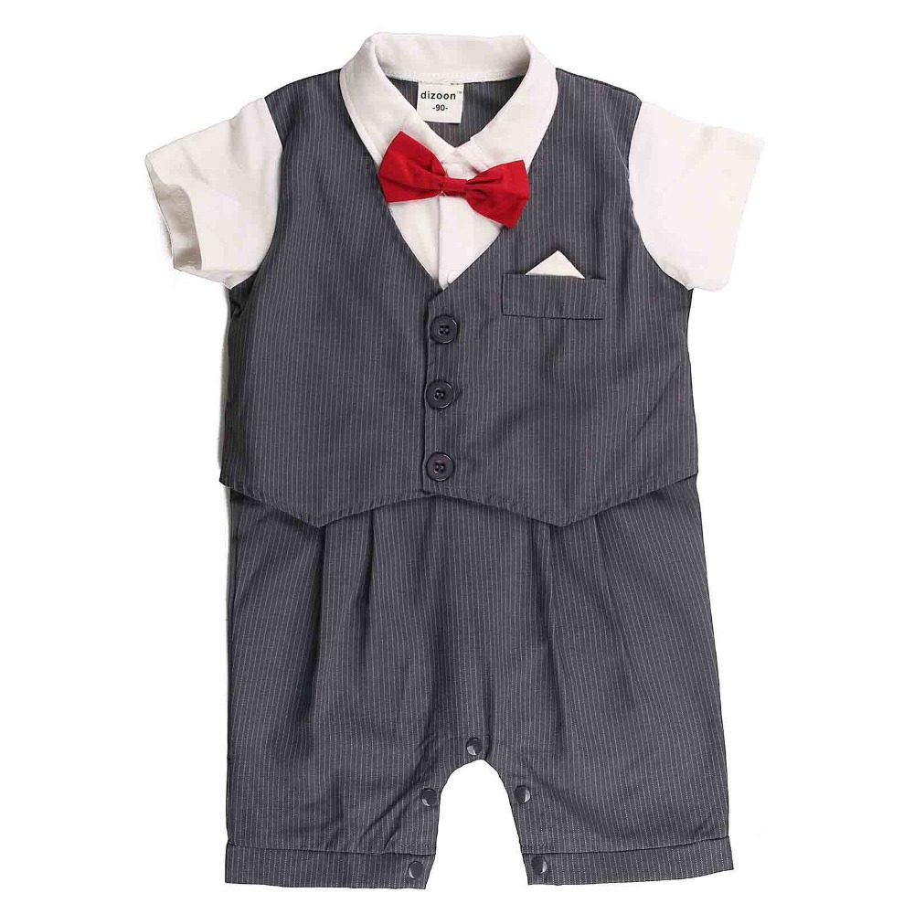 Short Sleeve Formal Style Newborn Baby Rompers for Boys Children's Rompers Infant Jumpsuit Cotton Kids Baby Suit for 80-95CM newborn baby rompers baby clothing 100% cotton infant jumpsuit ropa bebe long sleeve girl boys rompers costumes baby romper