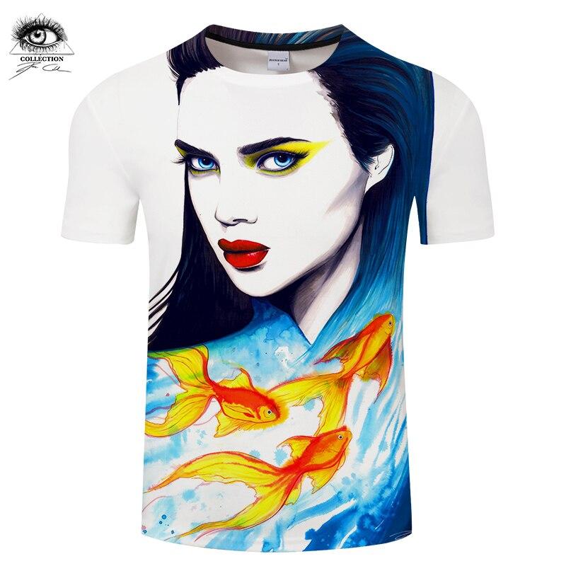 The Sea by Pixie cold Art Mens t shirt 3D Digital Prints tshirt Summer Unisex Brand Tees Tops Drop Ship ZOOTOP BEAR