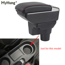 цена на Car Armrest box For Hyundai solaris 2 2017 Central Console Arm Store With Rise and Down Function content box cup holder ashtray