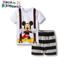 066142aca 2019 Summer Baby Boys Girls Sets Children Fashion Mickey Mouse Cartoon  T-shirt + Shorts. 5 Colors Available