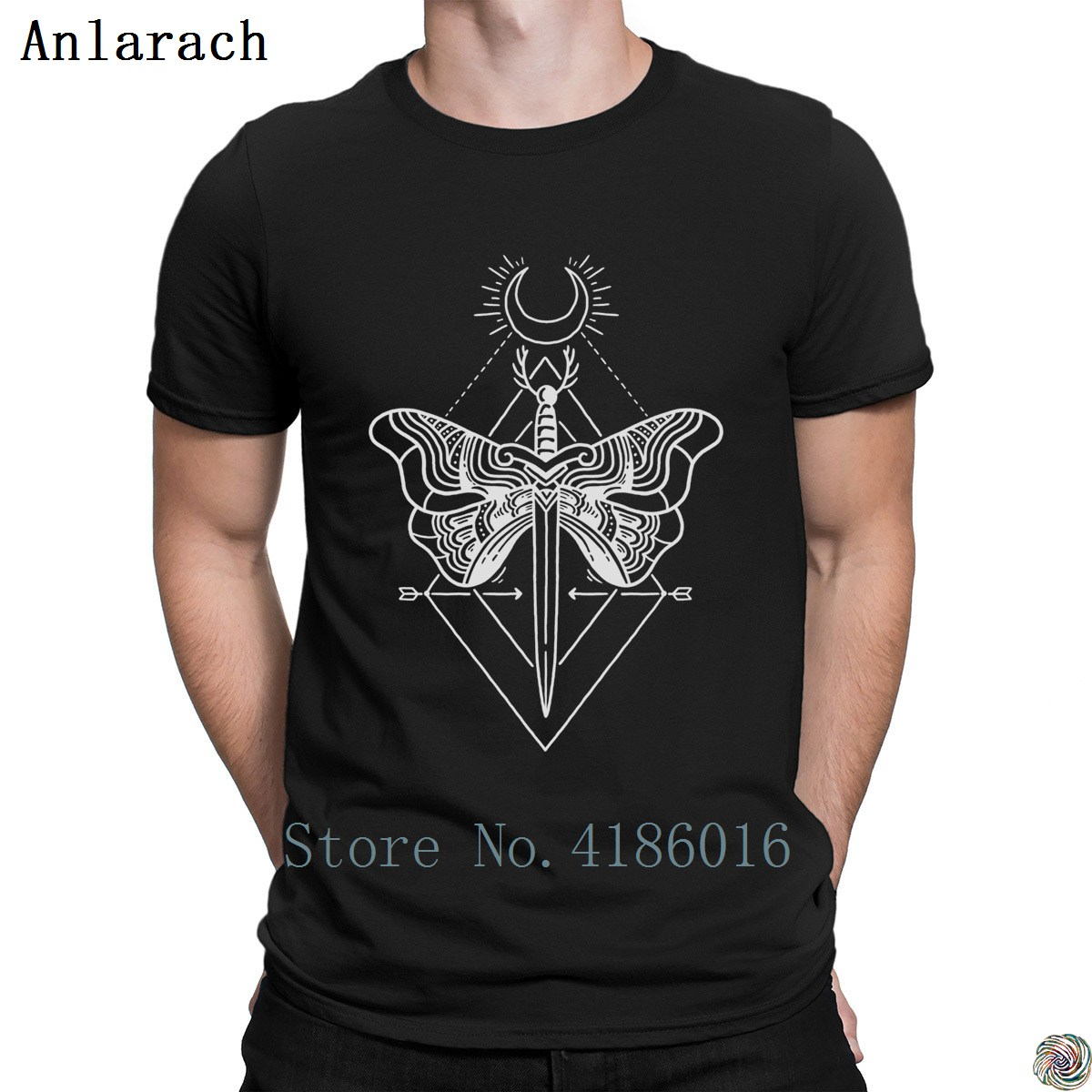 Sword Moth t-shirt nice clothing HipHop Top 2018 t shirt for men printed Pictures slim fit Anlarach big sizes