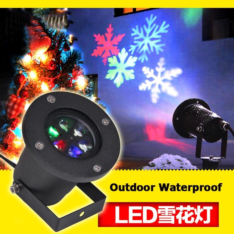 Snowflake Effect laser light Christmas Light Projector Garden Outside Xmas Tree Decoration Landscape Lighting
