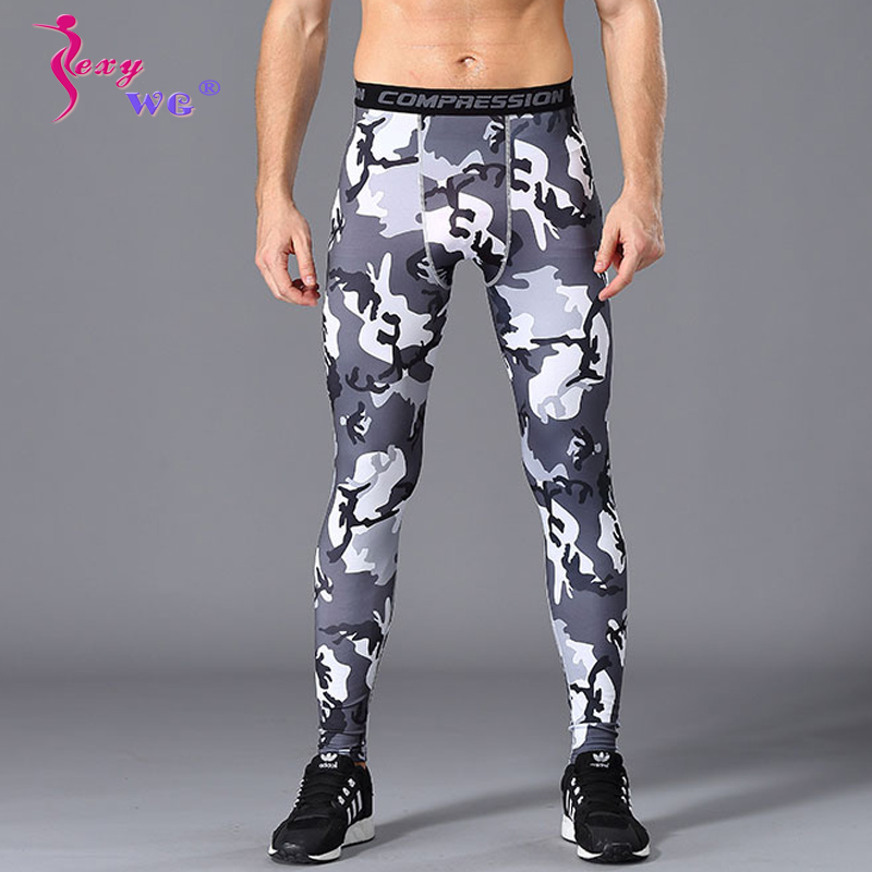 Men Yoga Gym Sports Leggings Run Workout Fitness Stretch Camouflage Pants Drying