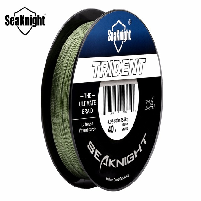 Special Offers Nunatak TRIDENT 500 M  PE Braided 4 stands Fishing Line Multifilament 8-80LB Freshwater / Saltwater Fishing Line Fish Rope