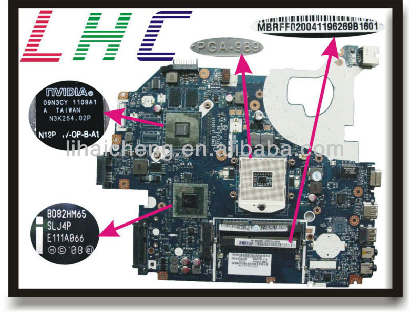 Free Shipping For Acer Aspire 5750 5750g Motherboard Mbrff02004 P5we0 La 6901p Fully Tested Well