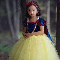 Children Fancy Snow White Dress For Girls Party Dresses Easter Carnival Costume For Kids Princess Dress Girl Clothing
