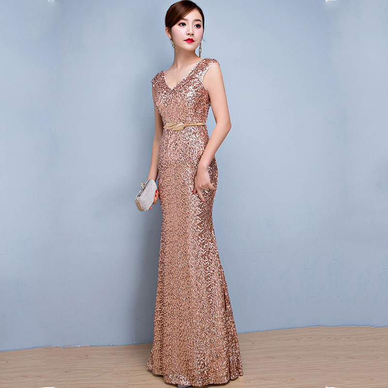 Sparkly Sequined V-Neck Mermaid   Prom     Dresses   for Black Girls 2019 Luxury Long African Formal Gowns Ilbies promettenti