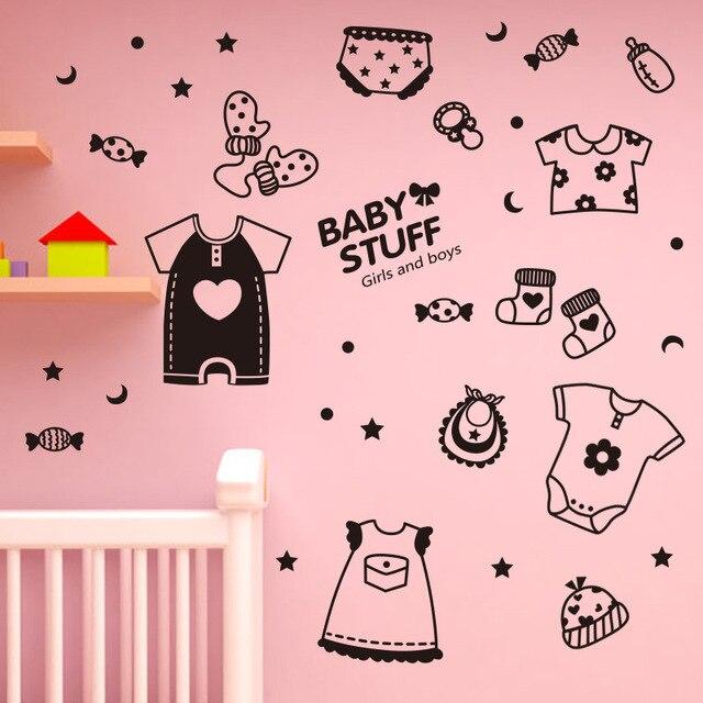 Cartoon cute black baby stuff candy mural vinyl art wall sticker cute kids room nursery