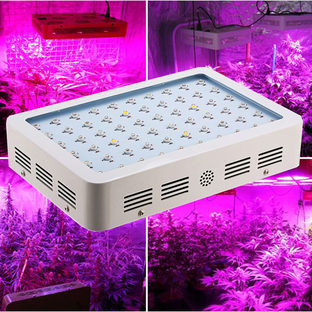 16ps wholesale Full Spectrum 600W Double Chip 600W LED Grow Light Red/Blue/White/UV/IR  for Growing and Flowering new 8 band 50w 100w 50 2w grow light led chip full spectrum led red blue uv ir white for indoor plant seeding growing flower